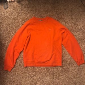 Orange Nike Crewneck Sweater